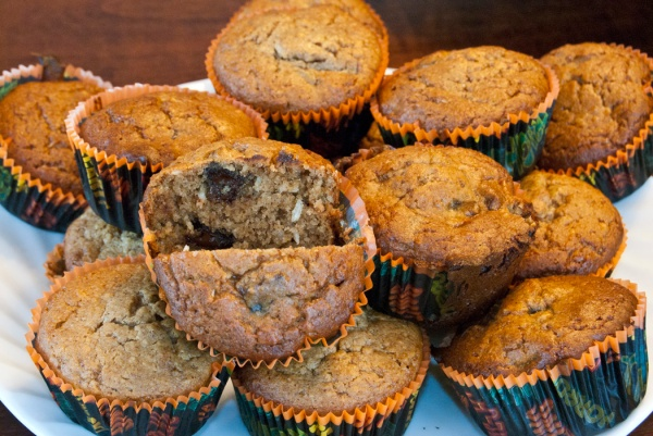 Grain Free-Sugar Free Banana chocolate chip Muffins
